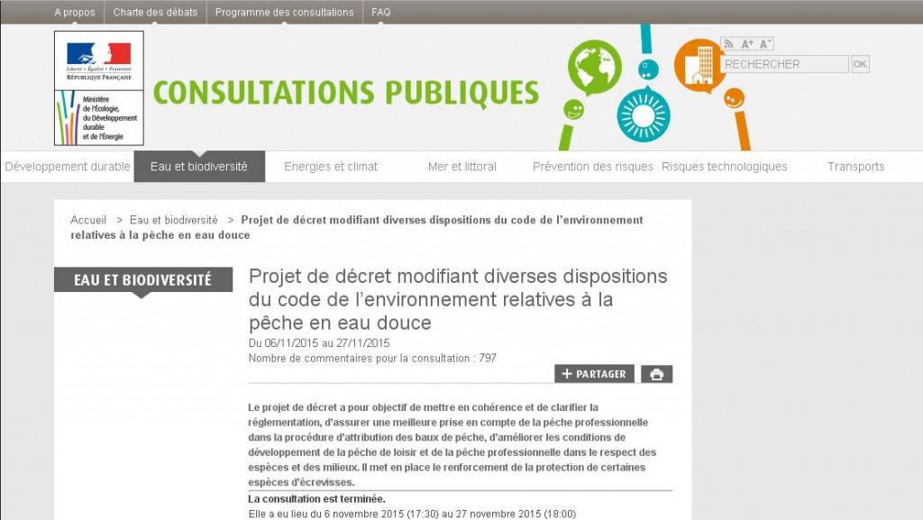 Projet de décret modifiant diverses dispositions du code de l'environnement