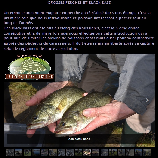 Alevinages en black bass fin 2016