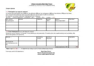 Voici le bulletin d'inscription pour les 21èmes rencontres Black Bass France