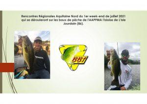 Rencontres Régionales Aquitaine Nord du 1er week-end de juillet 2021 sur les baux de pêche de l'AAPPMA l'Isloise de L'Isle Jourdain
